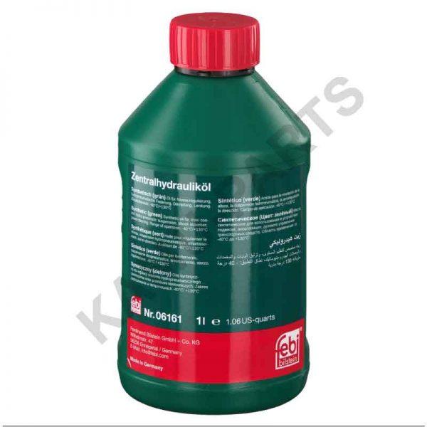 Febi Hydrauliköl für die Zentralhydraulik, Servolenkung und Niveauregulierung Grün (Synthetisch) 06161 1 Liter