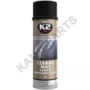 K2 Lackspray Schwarz Matt 500ml